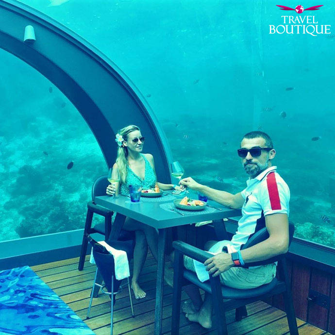 Maldivi putnici podvnodni restoran