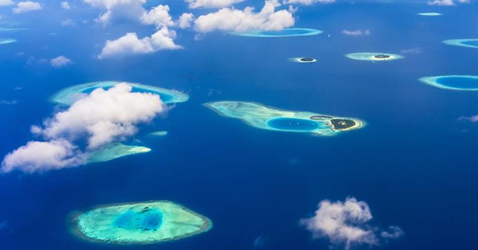 Maldivi iz vazduha