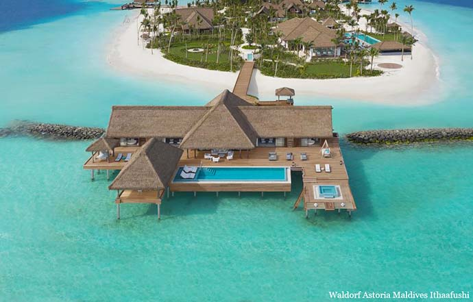 Vila Waldorf Astoria na Maldivima