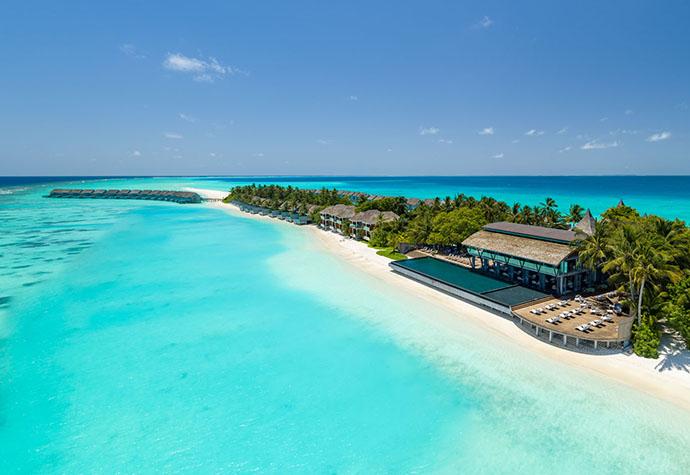 kuće na plaži na Maldivima
