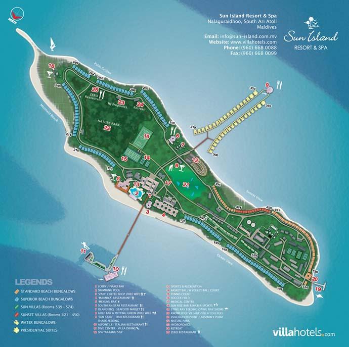 mapa Sun Island resort