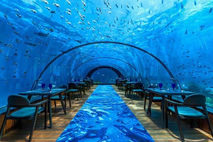 trpezarija podvodnog restorana
